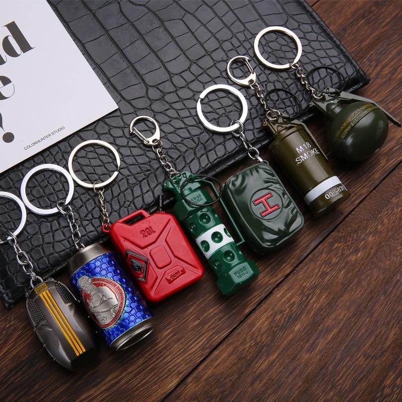 2019 popular game pubg key chain Cosplay props vertigo grenade smoke grenade fragment grenade weapon toy key chain Festival gift