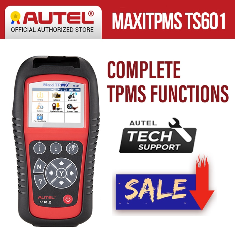 Autel MaxiTPMS TS601 OBDII herramienta de diagnóstico OBD2 escáner TPMS programador de código Reaser TPMS Monitor herramienta 433MHz 315MHz de Sensor