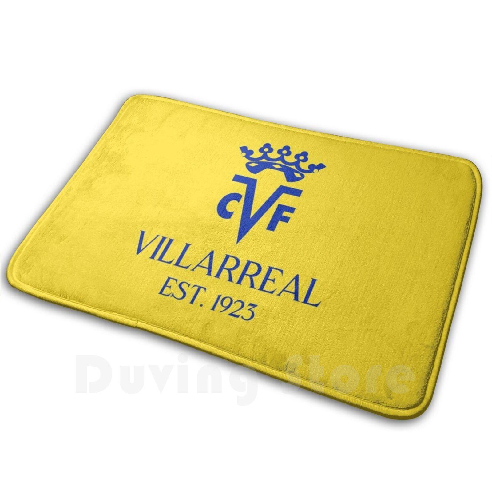 Villarreal-alfombra cómoda para puerta, cojín Villarreal, Villarreal, Club De Fútbol, El Submarino,...
