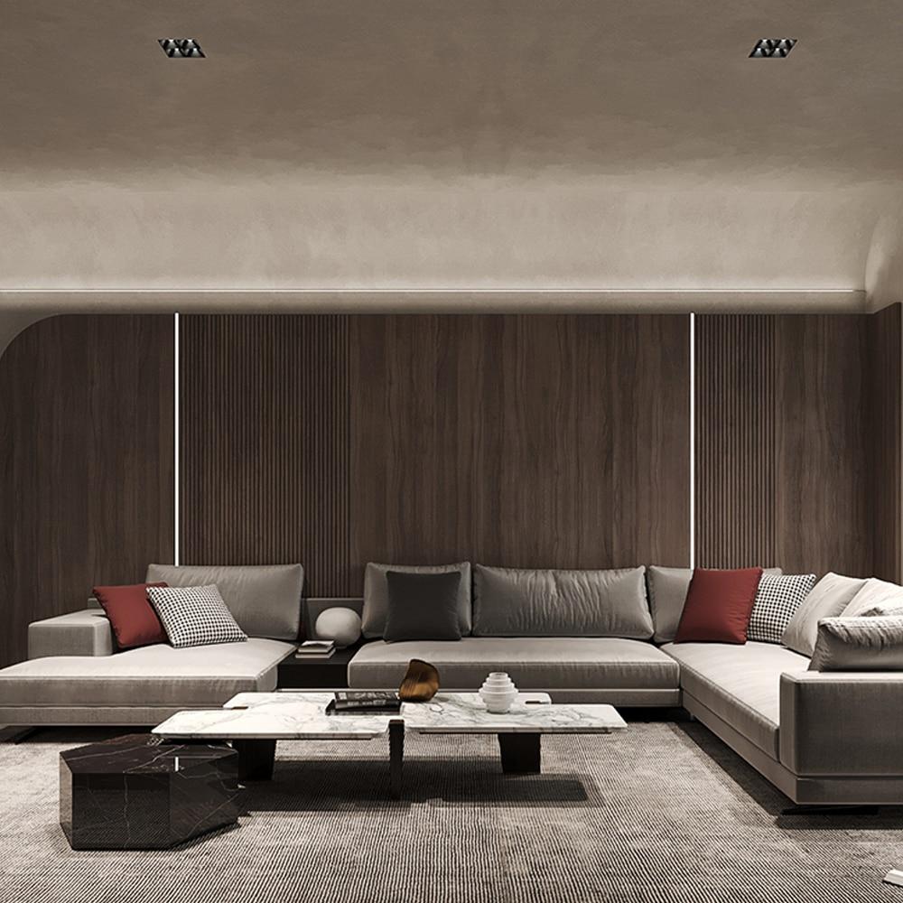MR.XRZ Trimless Downlight Ceiling Lamp Embedded Square Four-head Led Spot Light Anti-glare Home Living Room Indoor Lighting enlarge