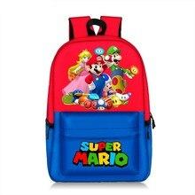 Super 17 pouces Mario Bros Pikachu sac à dos enfants enfants sac belle impression modèle Mario Sonic femmes capacité sac de voyage