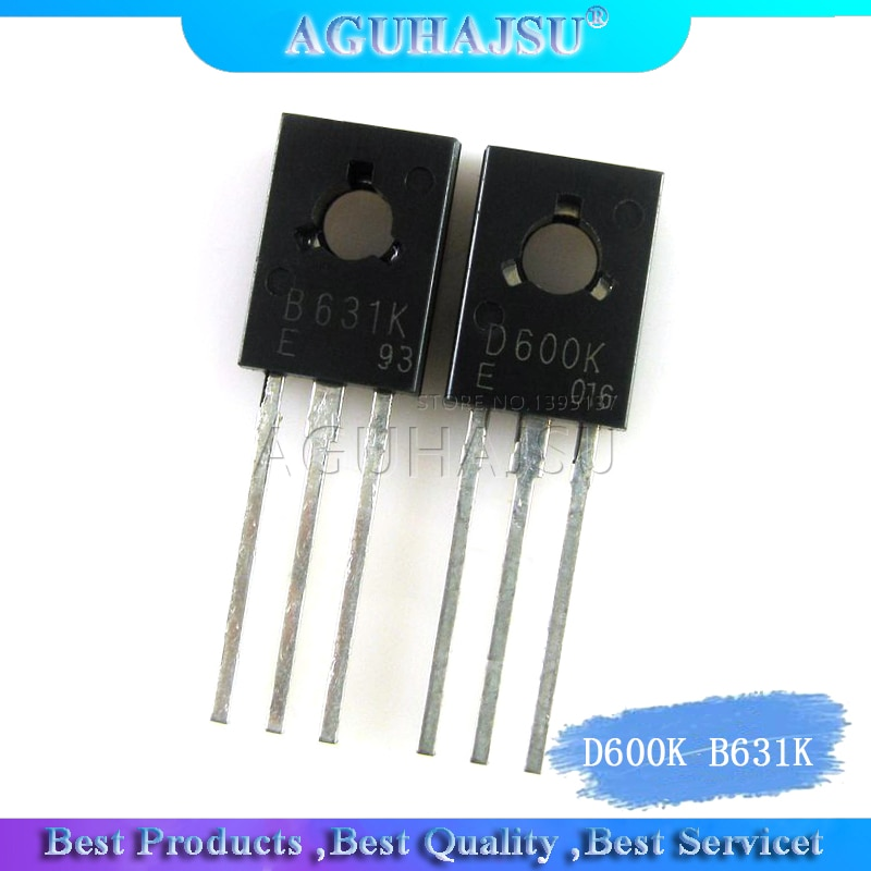 2 uds/lote 2SD600K D600K 2SB631K B631K original auténtico-128 1 Uds D600K + 1 Uds B631K