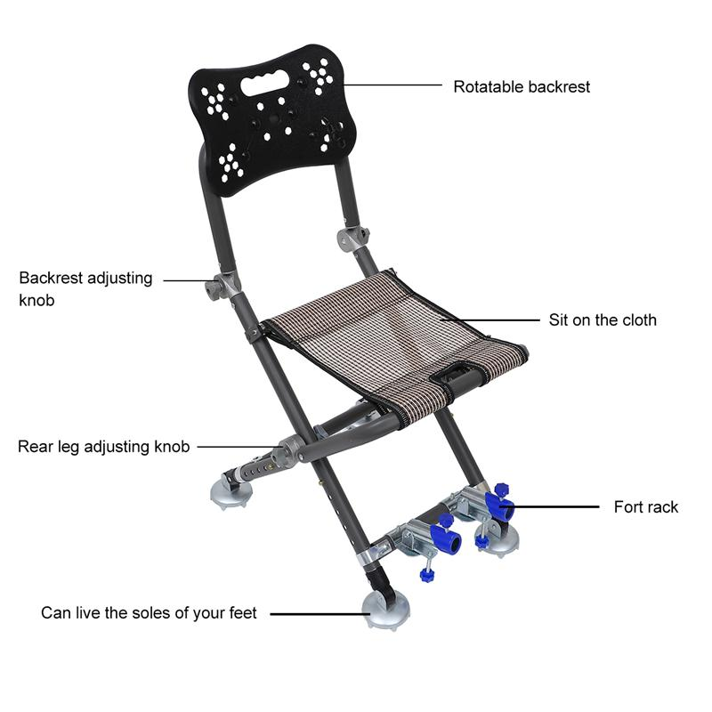 Practical Simple-designed Folding Fishing Lounge Chairs Outdoor Fishing Chair enlarge
