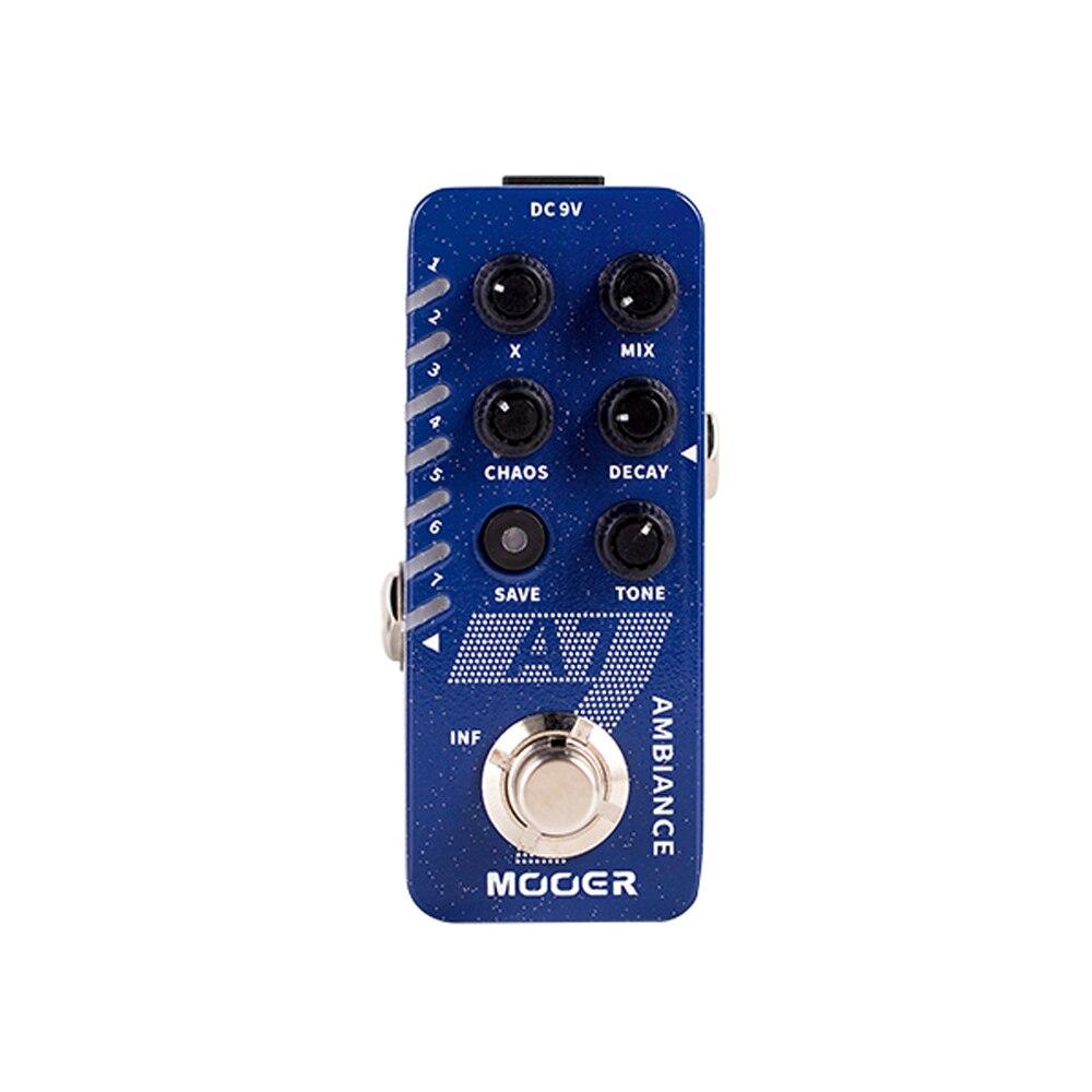 Mooer A7 reverberación ambiental Pedal de guitarra incorporado 7 efectos de reverberación infinito sostener Buffer Bypass nuevo Pedal de efecto reverberación
