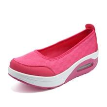 Toning chaussures femme forme sport chaussures compensées corps mise en forme minceur Swing marche chaussures baskets femme plateforme Sneaker