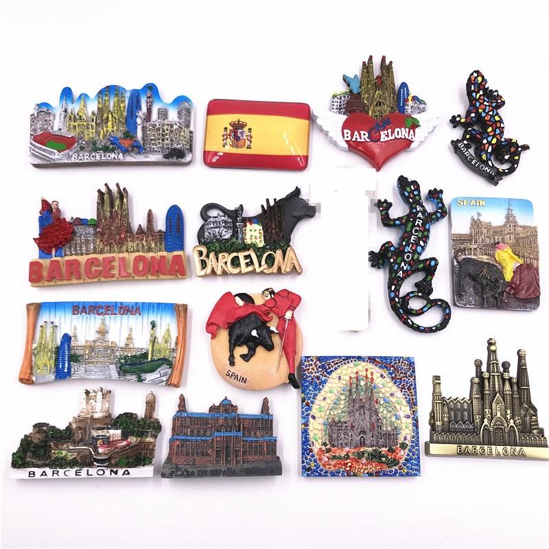 Samba Panorama-Gecko español, Scroll, toreo español, Madrid, España, Barcelona, imán de nevera...