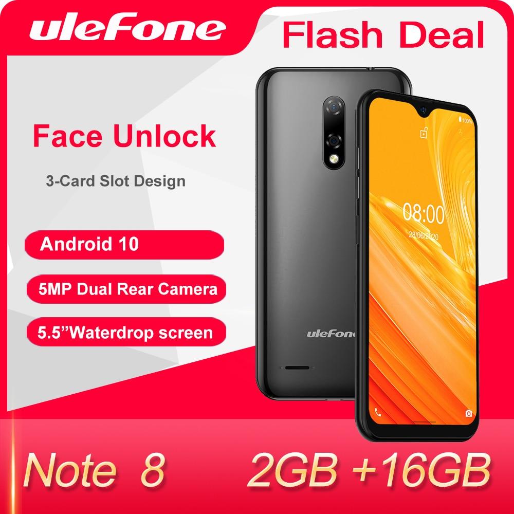 Ulefone-Smartphone Note 8, Android 10, 2GB + 16GB, pantalla gota de agua,...