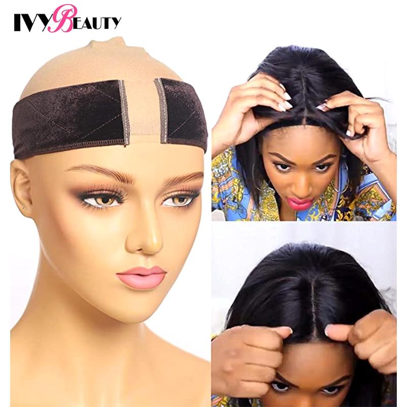 Ivy Beauty Lace Velvet Wig Grip Band For Women Non-Slip Comfort Wig Grip Headband With Adjustable Velcro Fastener Grip Headband