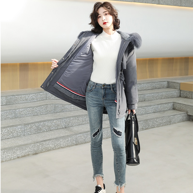 Женская зимняя куртка на меху, с капюшоном куртка зимняя женская