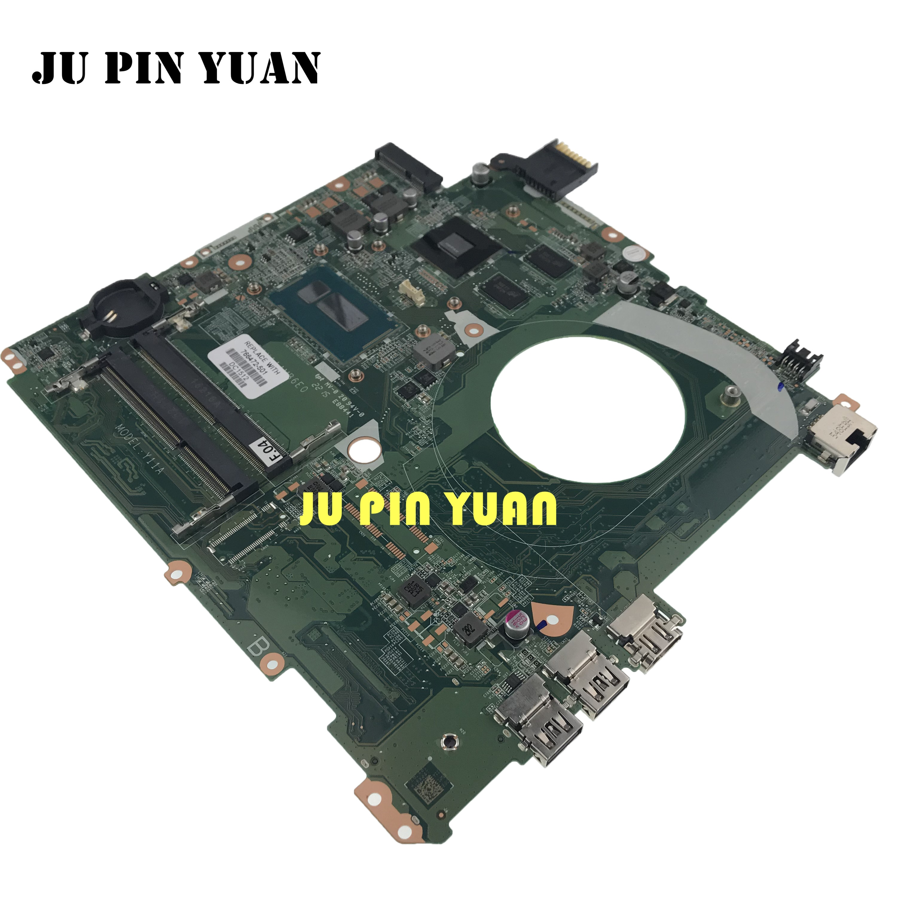 JU PIN YUAN For HP 15 15-P Laptop Motherboard DAY11AMB6E0 766472-001 766472-501 i5-5210U DDR3 GT 840M 2GB notebook pc mainboard