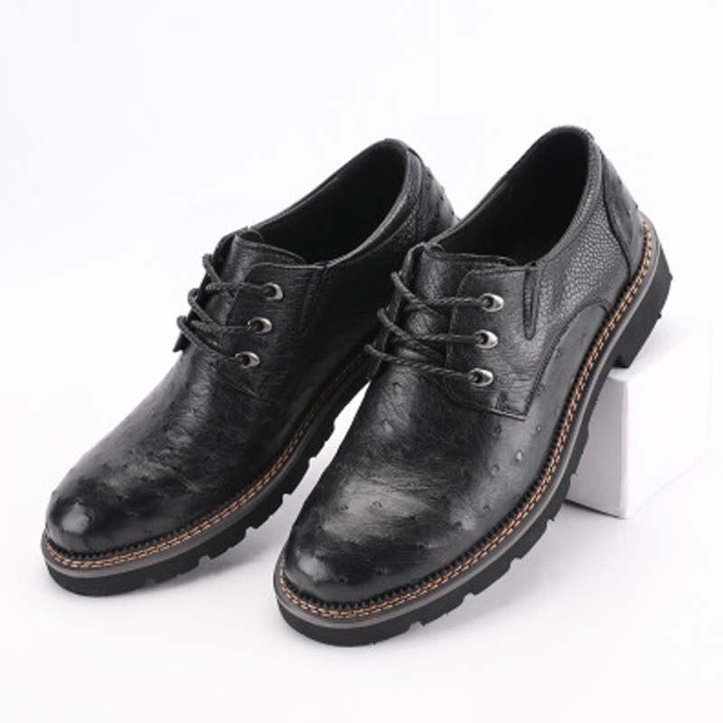 Baoduli-حذاء جلد النعام الأصلي للرجال ، أحذية ترفيهية ، أحذية جلدية أصلية للرجال