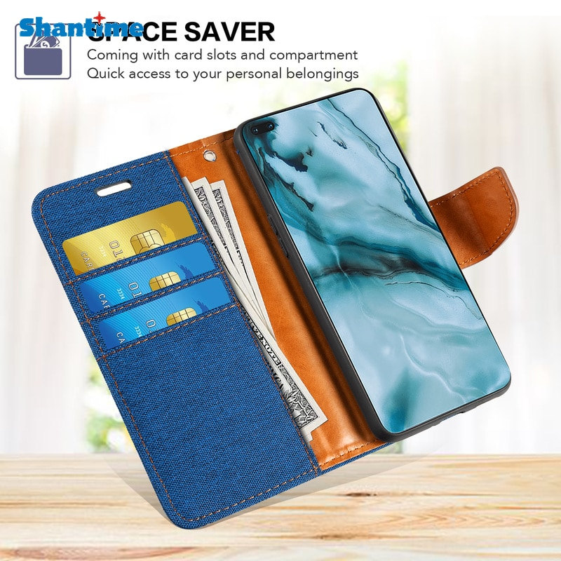 Oxford Leather Wallet Case For Motorola Moto G Pure With TPU Soft Back Cover Magnet Flip Case For Mo
