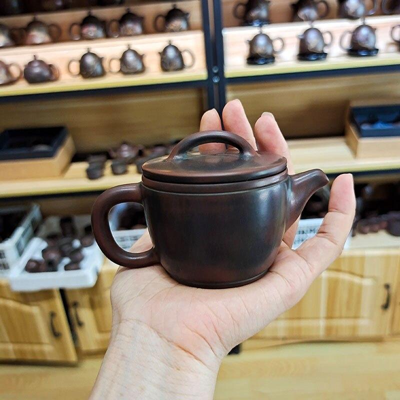 اليد رمي البرونزية Hanwa إبريق الشاي مع Qinzhou نيشينغ الفخار الطين 80cc-120cc ل شاي بوير الشاي الأسود لا ييشينغ إبريق الشاي