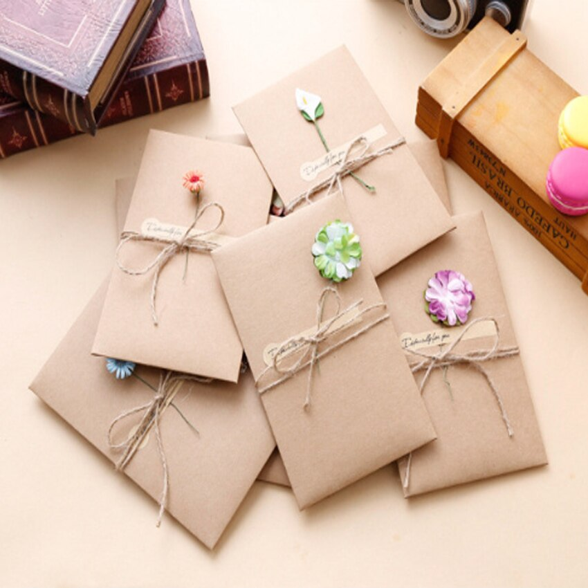 2 упаковки/партия, высушенные цветы из крафт-бумаги