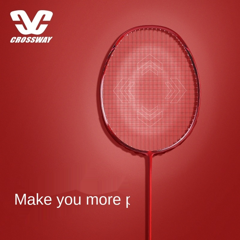 Full Carbon Badminton Racket Single Shot Authentic Training Ultra-Light Doubles Solid Color Attack Type