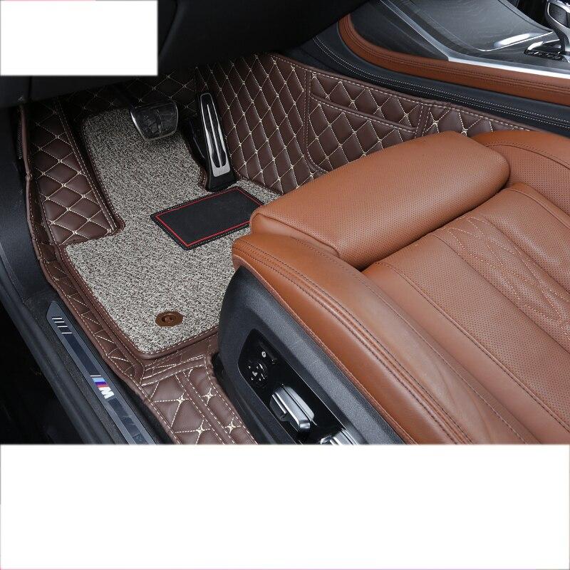 Couro tapete do carro para bmw x7 2019 2020 acessórios tapete interior estilo