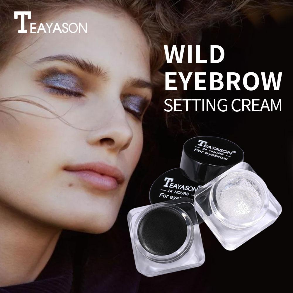 2 PCS Eyebrow Gel Soap Brow Set Including Waterproof Long-Lasting Eye Brow Tint Pomade Eyebrow Styli