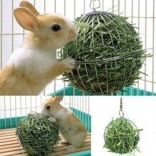 Jouets danimaux en acier inoxydable   Sphère ronde, distribution daliments, exercice boule de foin suspendue, cochon Hamster Rat lapin