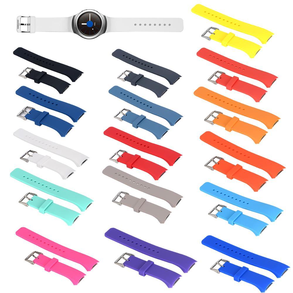 BEHUA-Correa para reloj Samsung Gear S2, RM-720 de silicona blanda para Samsung Gear S2, repuesto de correa de SM-R720