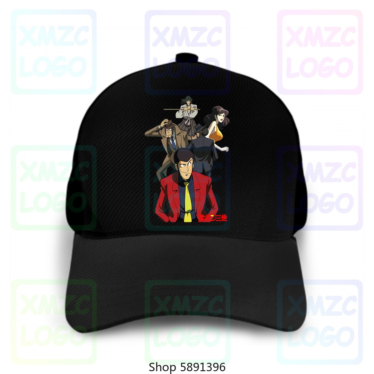 Atmungsakants Lupin Iii cartón de Lupin Iii años 80-Myth - 2-S-M-L - Xl gorra de béisbol sombreros mujeres hombres