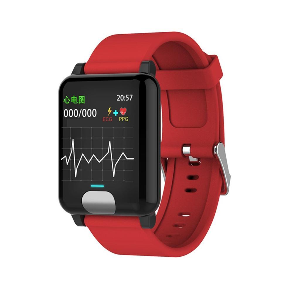 E04 Smart Color Screen Ecg Ecg + Ppg Test Ip67 Waterproof Bracelet Tpu Watch Band 200Mah Health Functions Motor Function