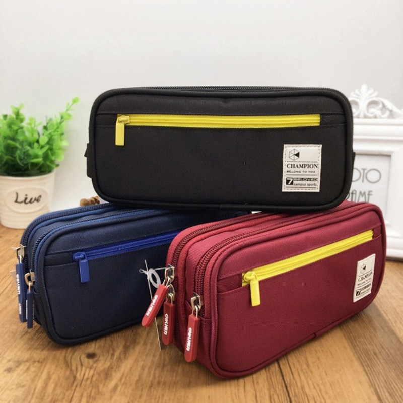 Creative Pencil Case Stationery Cute Boys Girls Pencil Cases Storage Pen Bag Box Large Student Capacity School Office Supplies