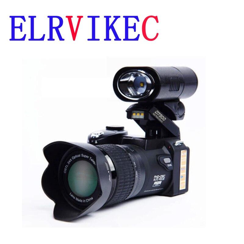 ELRVIKEC-كاميرا رقمية احترافية POLO D7300 ، 33 مليون بكسل ، تركيز تلقائي ، عدسة SLR ، تقريب بصري 24X ، 3 عدسات عالية الدقة