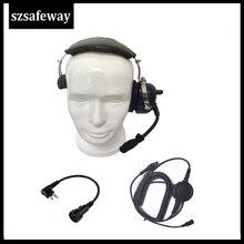 Шумоподавляющая Гарнитура walkie talkie для CP200 GP300, CP200 CLS446 CLS1110, CLS1410