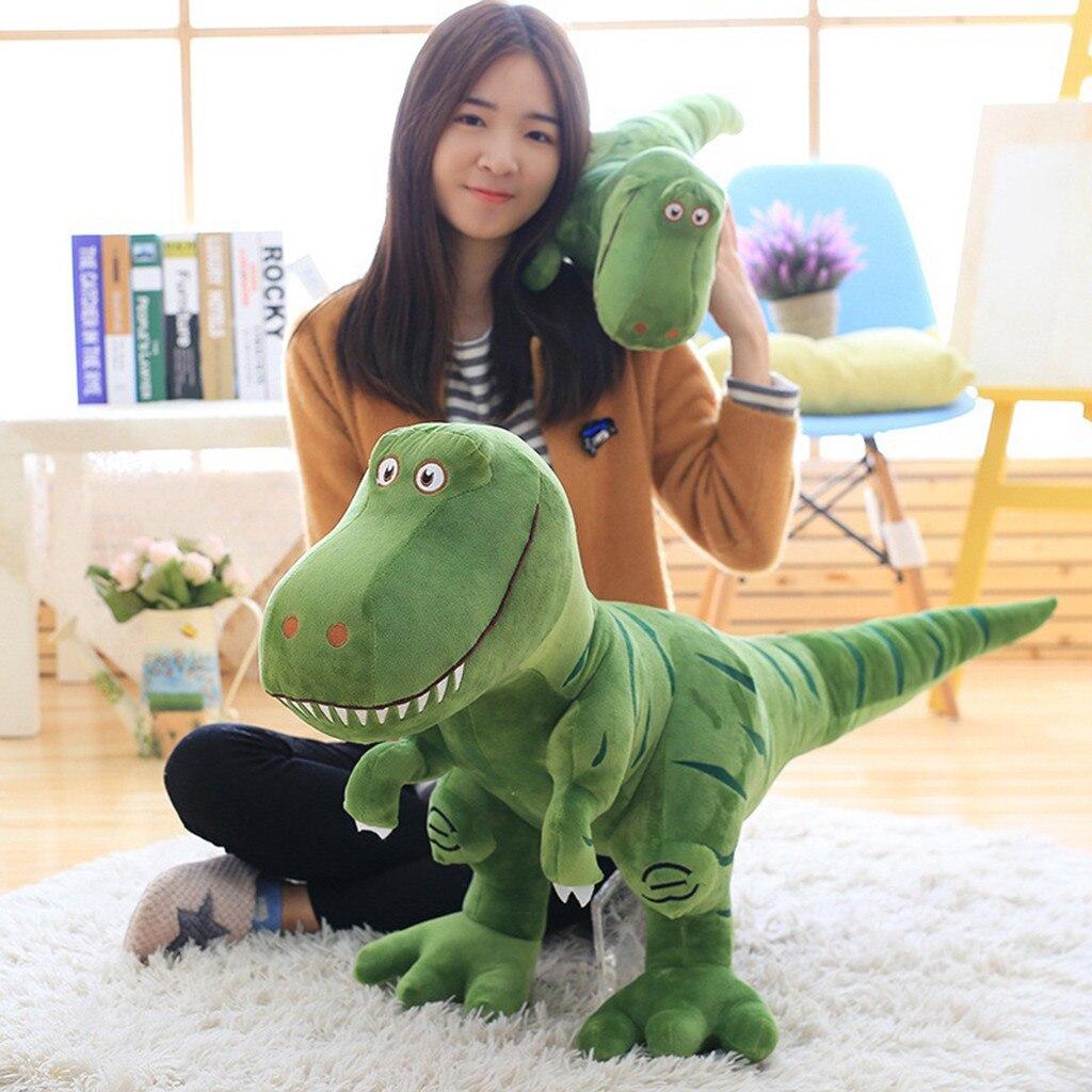 La cama de peluche juguetes de peluche suave lindo Peluche de T-Rex Tyrannosaurus dinosaurio de juguete para bebé niña niños regalos de cumpleaños