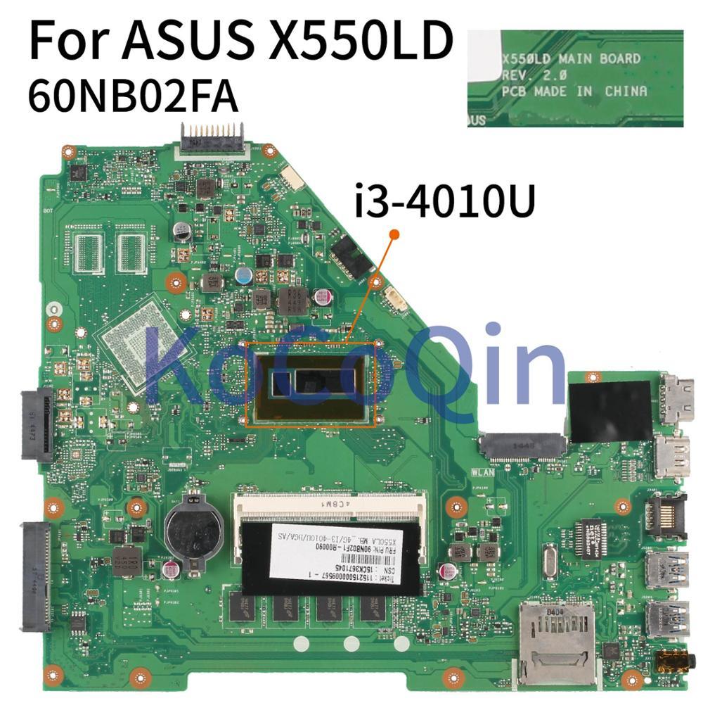 KoCoQin X550LD اللوحة لابتوب ASUS X550LD A550L R510L X550LC X550L X550LA X550 SR16Q I3-4010U اللوحة 60NB02FA REV.2.0
