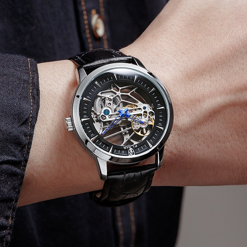 Men's Watch Hollow Mechanical Watch Perspective Watches for Men  Luxury Watches  Automatic Self-Wind  Fashion & Casual  Round enlarge