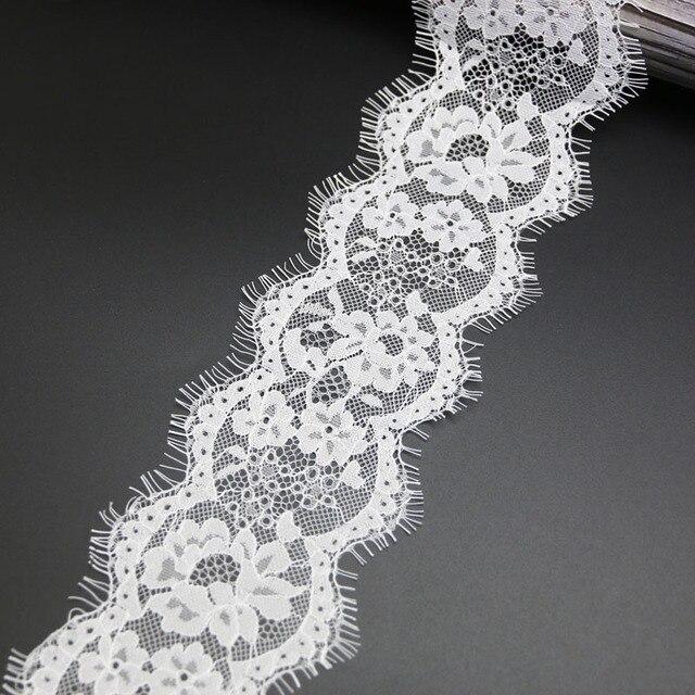 (3 meters/lot) 8cm White lace fabric Sewing Garment Ribbon Wedding Dress Fabric 4