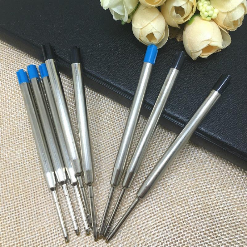 5pcs Tactical Pen Refills Black Roller Ball Refill Ink Fit Defense Accessories Cartridges Tools