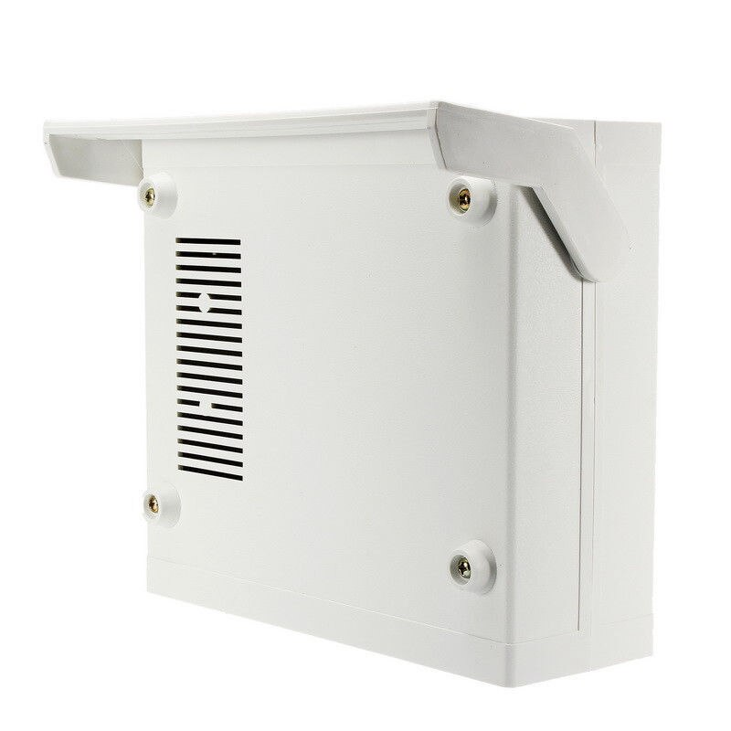 Carcasa de plástico caja de proyecto electrónico 20*17,5*7 cm con tornillos de montaje suministros de equipos eléctricos para aparatos eléctricos