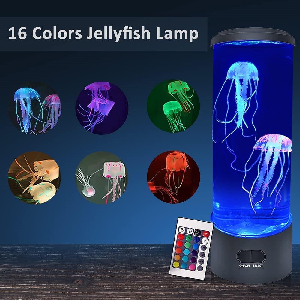 LED الخيال قنديل البحر مصباح USB/بطارية تعمل بالطاقة RGB 16 ألوان LED قنديل البحر حوض السمك مِصْباح لافا ضوء الليل لعيد الميلاد