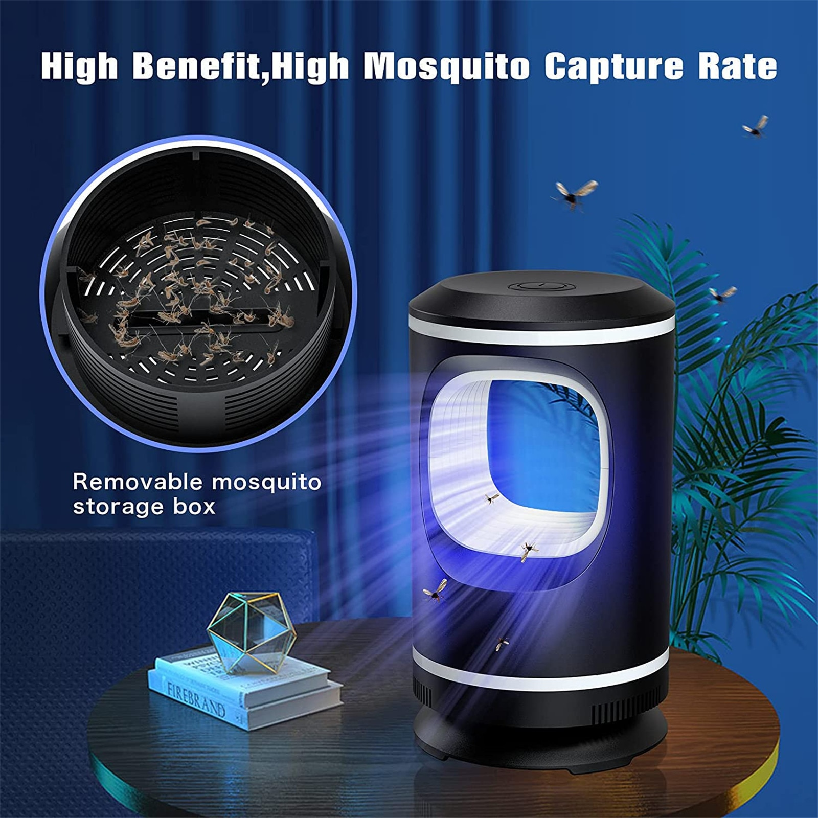 Photocatalyst Mosquito Killer Lamp New Home Bedroom USB Fly Repellent LED Light Mute Trap #GM