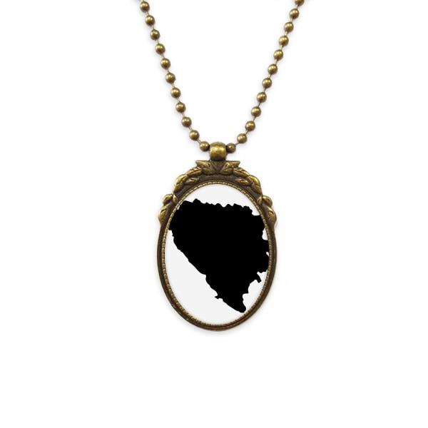 Ожерелье из латуни в стиле ретро с изображением карты страны, ювелирные изделия класса люкс