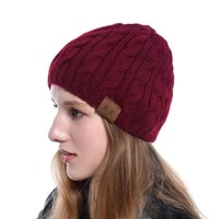 knit beanie thick soft warm chunky tough headwear slouchy beanie hats thick soft knit beanie cap hat for women men