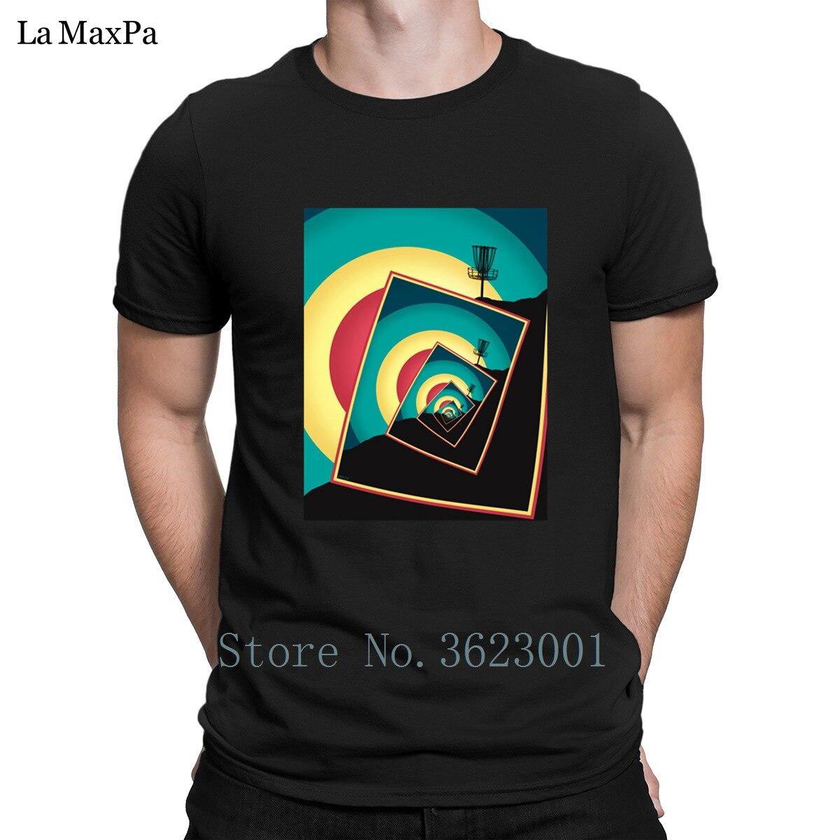 Diseño novedoso camiseta Streetwear cesta de Golf de disco giratorio para hombre Camiseta Popular para hombre Quirky Camiseta de algodón camiseta Anti-arrugas