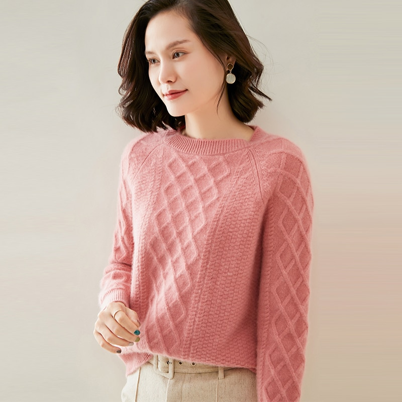 adohon 2021 woman winter 100% Cashmere sweaters autumn knitted Pullovers High Quality Warm Female thickening O-neck enlarge
