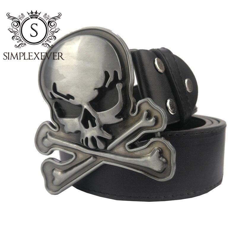 Пряжка для ремня с черепом для мужчин, аксессуары для джинсов, серебристая металлическая пряжка для ремня 4 см, широкий ремень, Прямая постав...