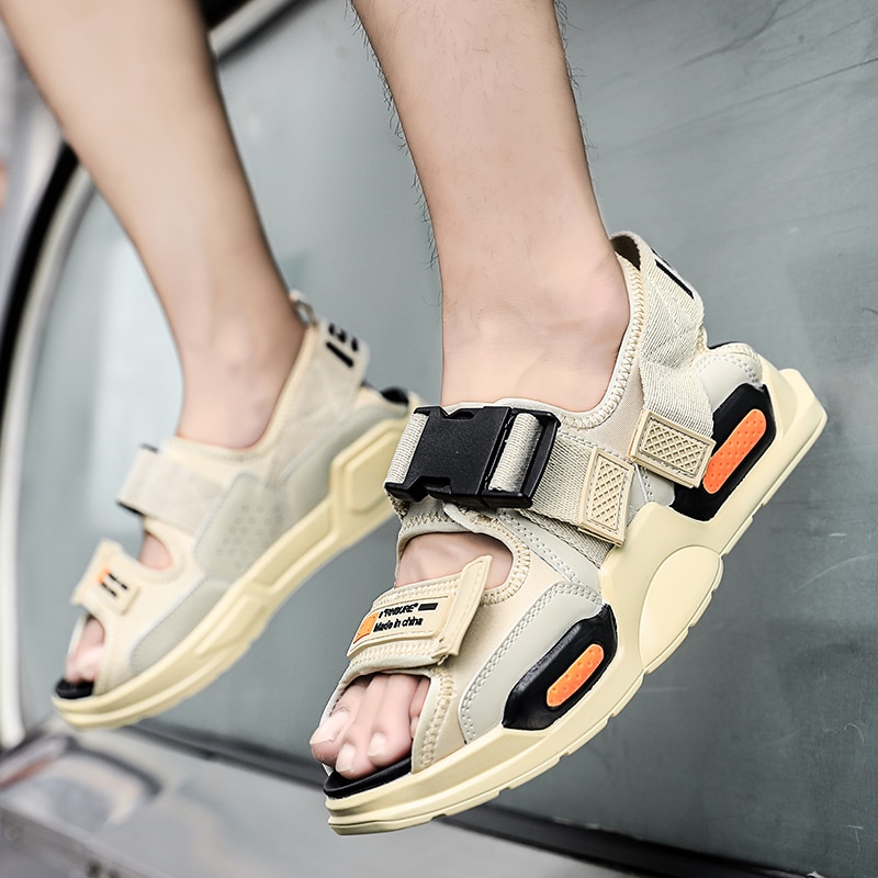 2020 летние сандалии с высоким верхом и ремешком на щиколотке, мужские сандалии-гладиаторы, уличные повседневные сандалии, мужские сандалии ... сандалии saivvila saivvila mp002xw0e570