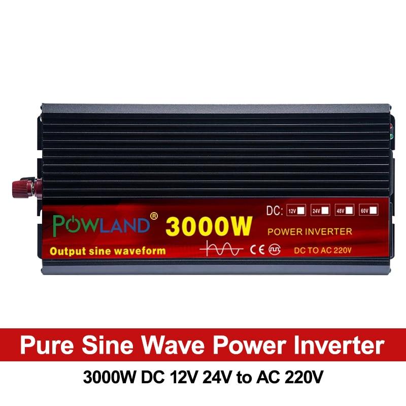 Инвертор немодулированного синусоидального сигнала, 2000 Вт, 3000 Вт, 4000 Вт, 12 В, 24 В постоянного тока в 5000 в переменного тока, преобразователь напряжения, преобразователь, светодиодный дисплей