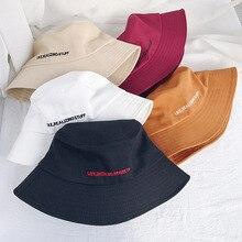 Bucket Hat Men Women Embroidery Letter Wide Brim Bucket Hat Summer Casual Harajuku Hip Hop Student Sports Fisherman Cap Sun Hats