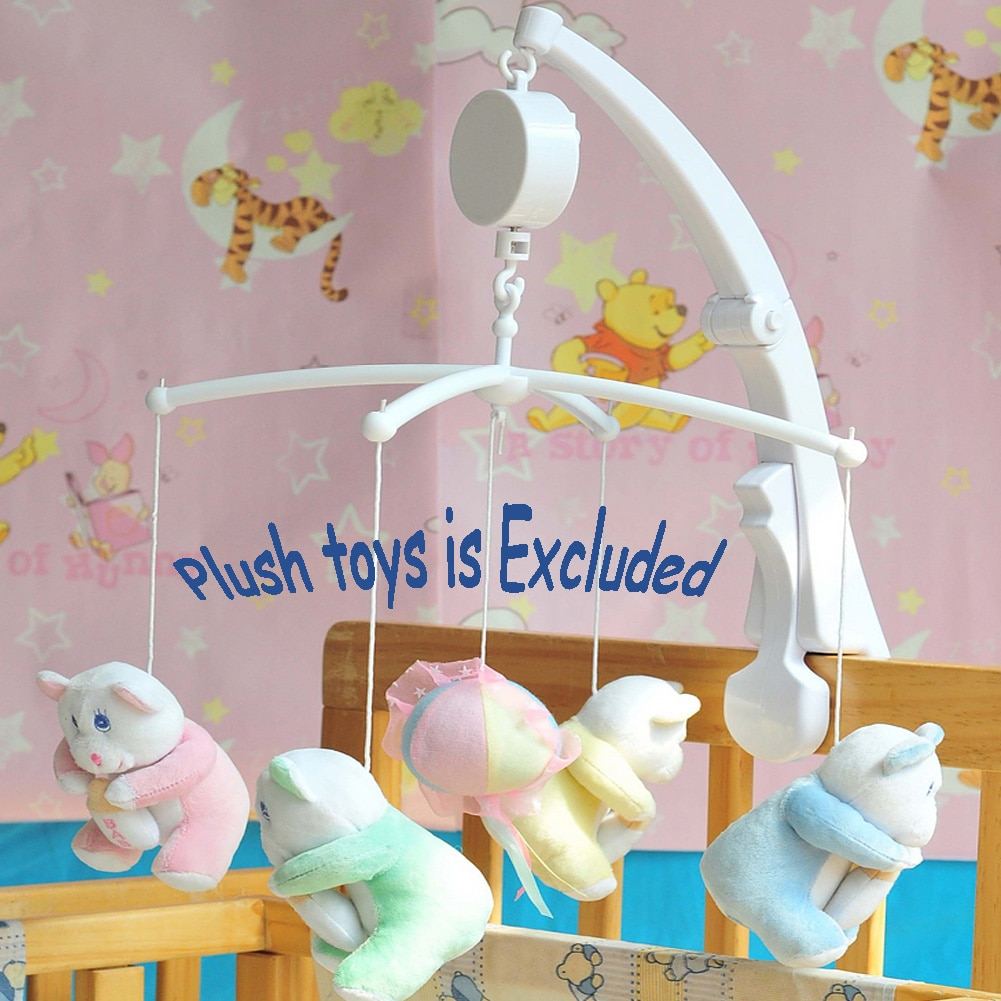Rotary Mobile Bed Toy Baby Crib Melodies Song Kids Mobile Windup Bell Electric Autorotation Music Bo