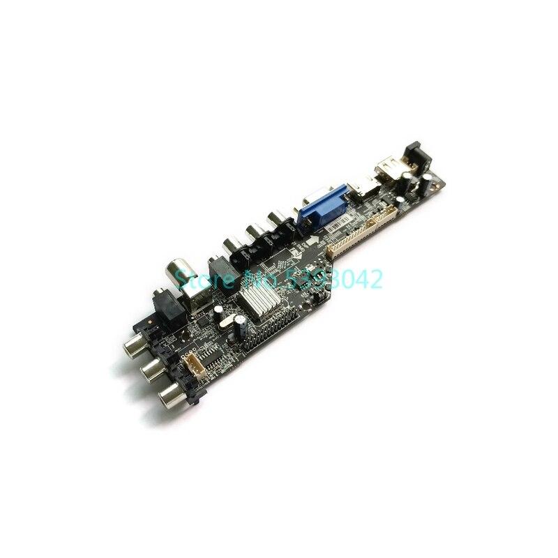 Fit LP171WP4 (TL)(Q1)/(TL)(Q2)/(TL)(R1)/(TL)(R2) 1440*900 30-Pin LVDS 1CCFL digital 3663 AV USB DVB-C controller board kit
