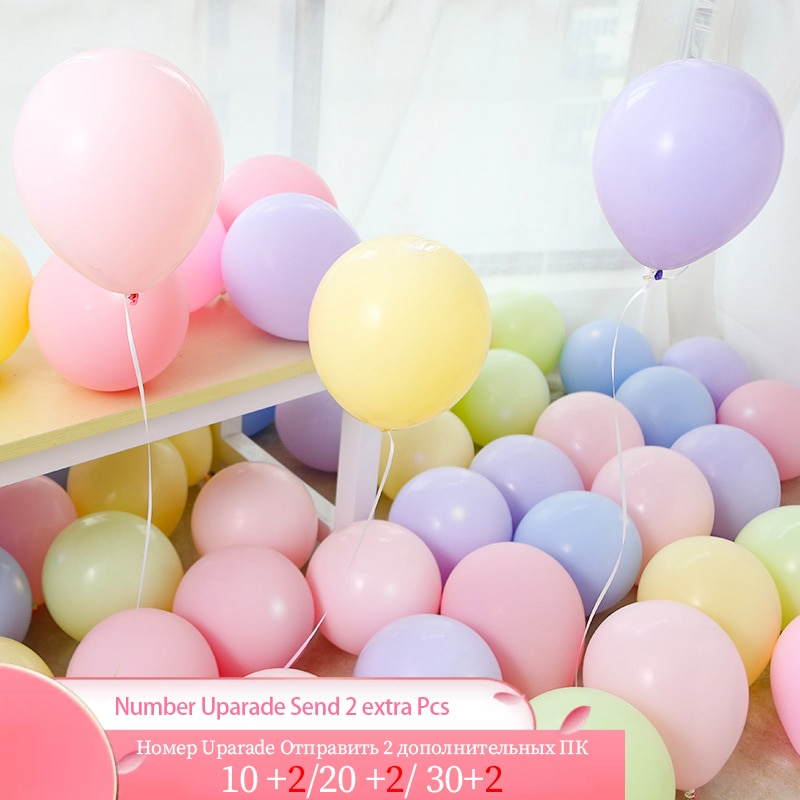 10/20/30Pcs 10inch Macaron Latex Balloons Pastel Candy Balloon Birthday Party Wedding Decoration Kids Baby Shower Balls Globos