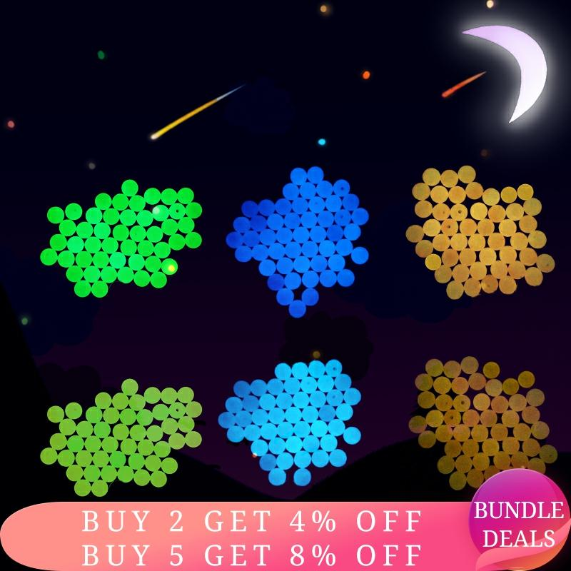 6mm 8mm 10mm 12mm Acrylic Luminous Beads Glow In The Dark Loose Spacer Beads For Jewellery Marking N