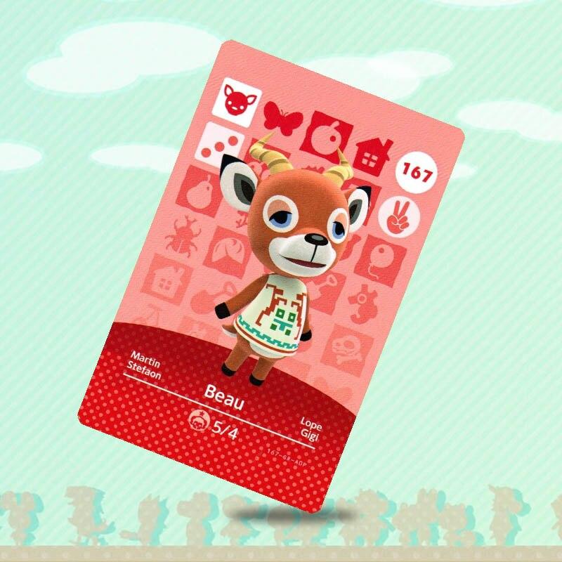 167 Beau Animal Crossing tarjeta TARJETA DE Amiibo para NS interruptor juego nuevo horizontes