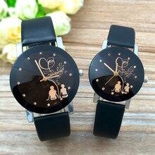 Student Couple Stylish Glass Dial Quartz Watch Automatic Watch Men Square Men Quartz Wristwatches Le